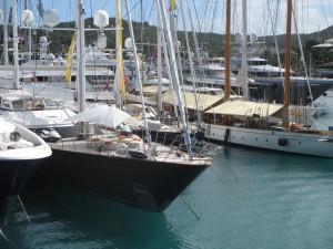 Various yachts at the show